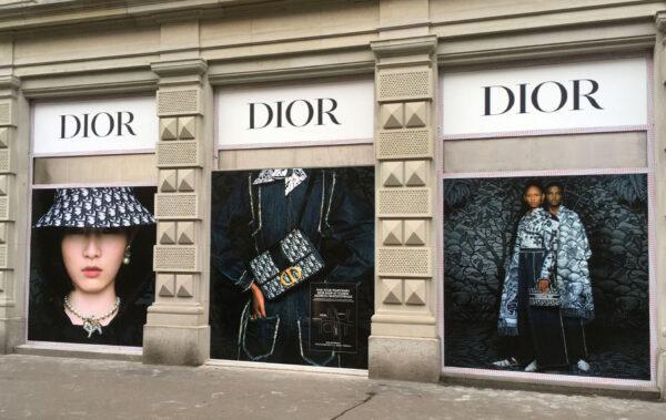 DIOR – Schaufensterbeschriftung an der Bahnhofstrasse Zürich
